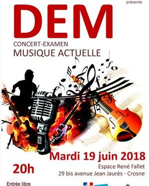 Concert Examen DEM musique actuelle
