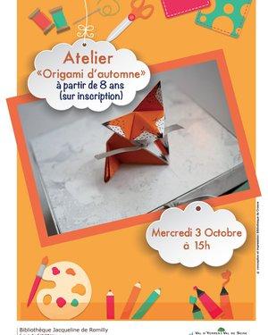"Atelier ""Origami d'automne"""
