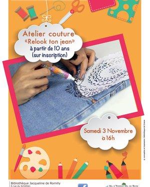 "Atelier ""Relooke ton jean clair"""