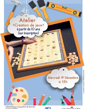 """Atelier """"Création de jeux"""""""