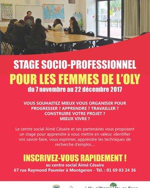 Stage socio-professionnel pour les femmes de l'Oly
