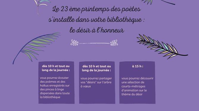 23 ème Printemps des poètes