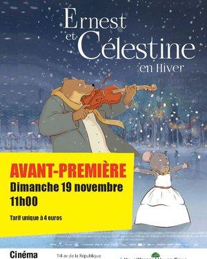 Séance Ciné Jeunesse : Avant-Première de « Ernest et Célestine en hiver »
