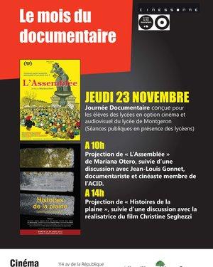 Séance Cinéma dans le cadre du mois du documentaire : « Histoires de la plaine »