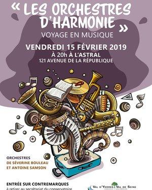 Concert :« Les Orchestres d'Harmonie » Voyage en musique