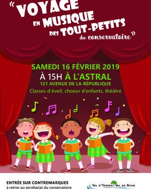 Concert : « Voyage en musique des tout-petits du conservatoire »