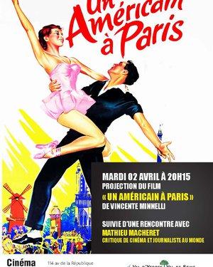 Projection du film « Un américain à Paris » suivie d'une rencontre avec Mathieu Macheret
