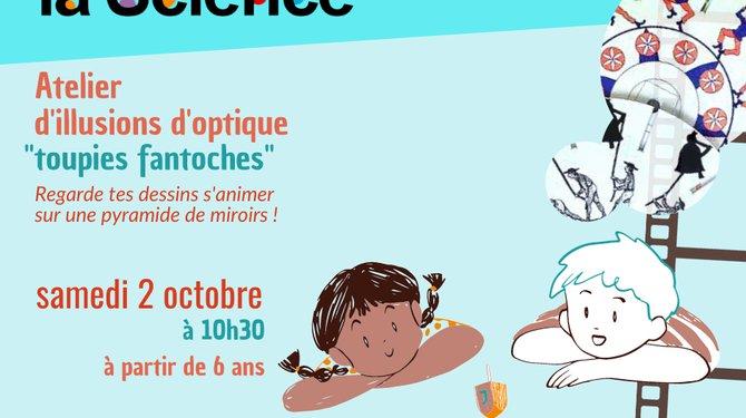 FETE DE LA SCIENCE - Atelier toupies fantoches