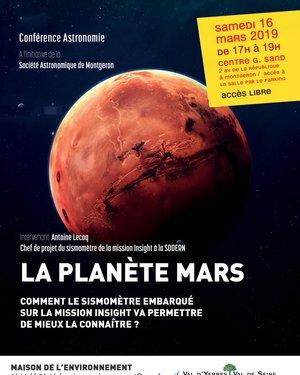 La planète Mars: comment le sismomètre embarqué sur la mission Insight va permettre de mieux la connaitre?