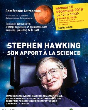 Conférence Astronomie : « Stephen HAWKING, son apport à la science »