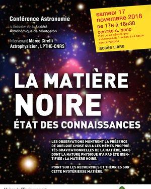 Conférence Astronomie : « La Matière Noire : État des connaissances »