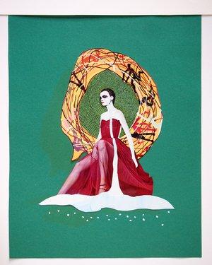 "Exposition ""Femmes mythologiques : collages"""