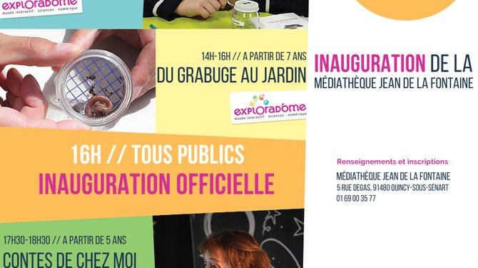 Inauguration Médiathèque Jean de La Fontaine