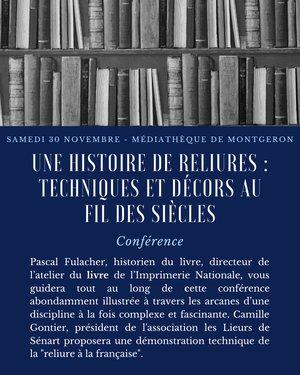 Conférence - Une histoire de reliures : techniques et décors au fil des siècles