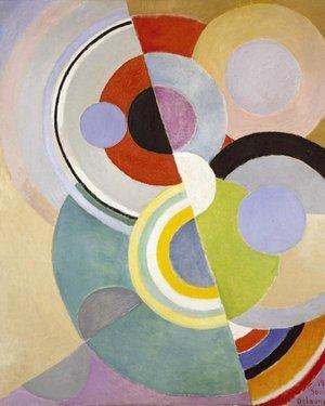 Cercles en papier ... à la manière de Sonia Delaunay - Atelier artistique en famille