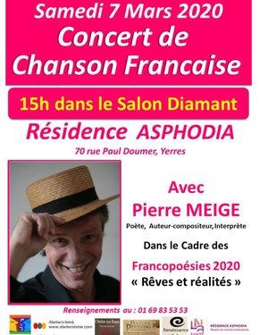 Concert de Chanson française - Francopoésies 2020