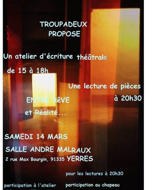 Atelier d'écriture - Francopoésies 2020