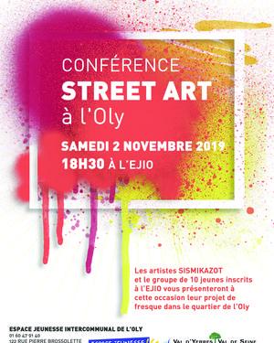 Conférence Strret Art à l'Oly