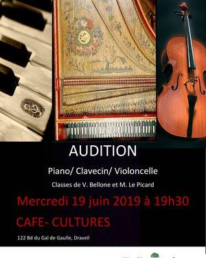 Audition de Piano, Clavecin et Violoncelle