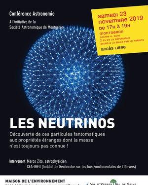 """Conférence Astronomie """"Les Neutrinos"""""""